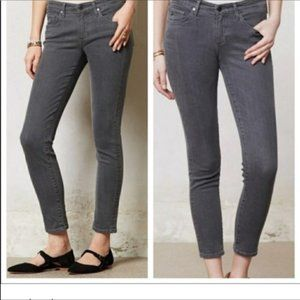 AG Adriano Goldschmied The Stevie Ankle Slim Straight Leg Jeans Gray 26